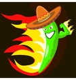 cool chili pepper vector image