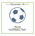 Football Day vector image