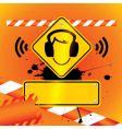 caution music vector image