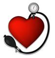 Heart pressure vector image vector image