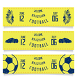 Set of banners welcoming tickets to Brazil vector image