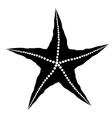 Silhouette of Starfish vector image