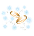 vector golden wedding rings vector image vector image