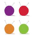 ball of yarn vector image vector image