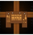restaurant menu background bricks and wooden vector image