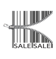 Barcode stylize as a zipper vector image