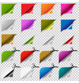big color corners set vector image