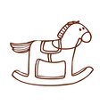Hand Drawn Rocking Horse vector image
