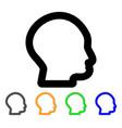 head profile stroke icon vector image