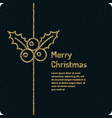 merry christmas background in linear minimalistic vector image