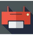 Modern flat design concept icon printer vector image