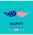 Mustaches with stars and stripes independence day vector image