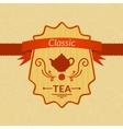 Retro tea label vector image