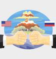russia vs america nuclear explosion vector image