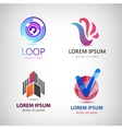 set of abstract logos company icons vector image