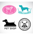 Set of an pet shop label vector image