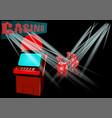 slot machine in casino vector image