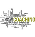word cloud coaching vector image