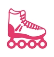 skate shoe wheel icon vector image