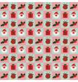 Christmas Santa and gifts pattern vector image