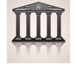 Antique roman temple stylized background vector image