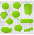 big green eco labels set vector image