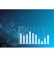 blue graph vector image vector image