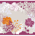 abstract cute lovely floral card vector image