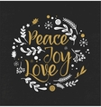 Christmas Background With Typography vector image vector image