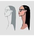Beautiful Woman Portrait vector image vector image