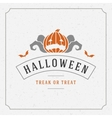 Halloween Background and Pumpkin vector image vector image
