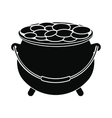 Pot full of coins icon vector image