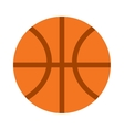 Orange basketball ball sport equipment competition vector image