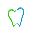 abstract dental tooth line art vector image