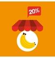 banana discount shop online icon vector image