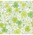 Clover line art seamless pattern background vector image