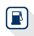 fuel benzine oil station flat design icon long vector image