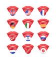 international flag set vector image