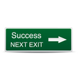 road sign success vector image