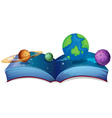 Solar system book vector image