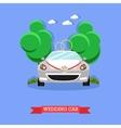 Wedding car - stock vector image