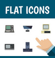 flat icon computer set of processor pc vintage vector image
