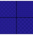 set of star patterns vector image