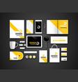 Black branding Mockup vector image