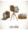Set of Vintage Retro Camera vector image