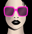 Glamor girl wear sunglasses Celebrity vector image vector image