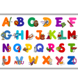 educational alphabet set for kids vector image