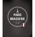 Brasserie Paris Badge vector image