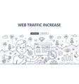 Web Traffic Doodle Concept vector image vector image