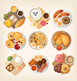 Classic breakfasts from different countries vector image vector image